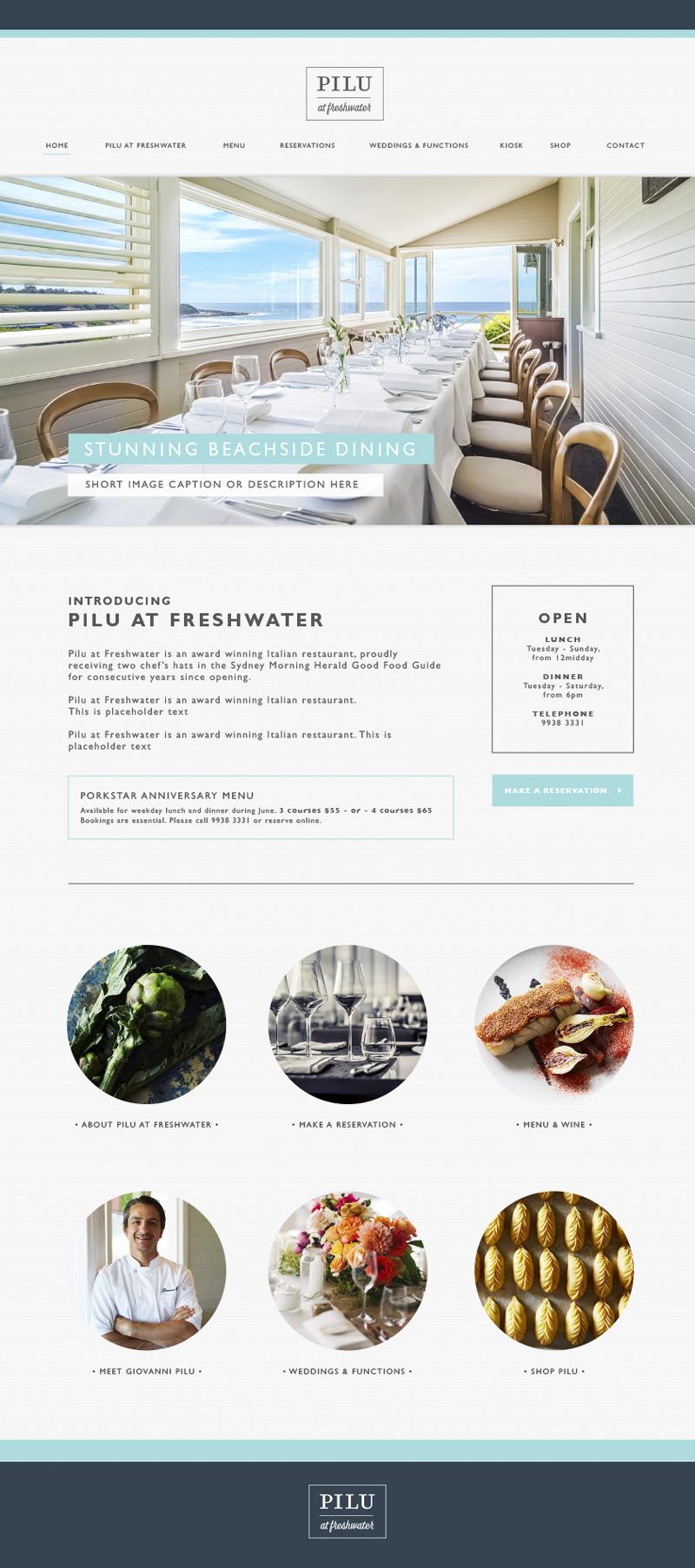 restaurant responsive website design agency brisbane sydney sunshine coast