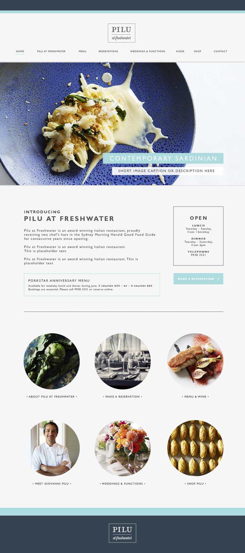 restaurant responsive website design agency brisbane sydney sunshine coast